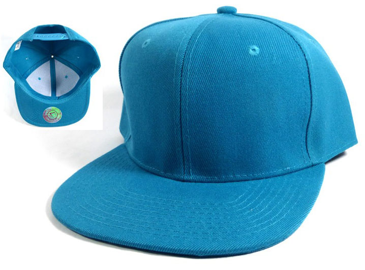 Wholesale Blank Snapback Hats Caps - Turquoise Blue cfbe53fa9b2