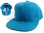 Wholesale Blank Snapback Hats Caps - Turquoise Blue