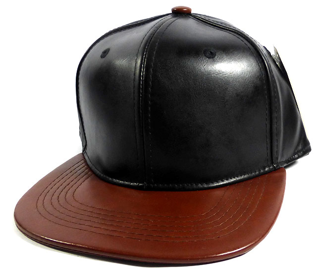 Home   ALL HATS   Faux Leather Blank Snapback Hats Wholesale - Black  6959626c17b
