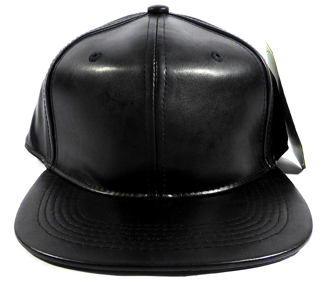 01370c3fed2 ... coupon code home all hats blank black faux leather snapbacks wholesale  black 75b63 cef58 ...