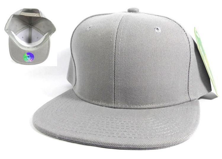 Blank Snapback Caps   Hats Wholesale - L.Gray Solid 7ba3173d1ce