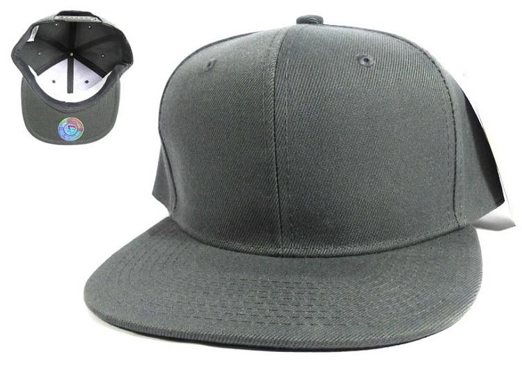 Blank Snapback Caps   Hats Wholesale - Dark Grey 903ac95e531