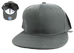 Blank Snapback Caps & Hats Wholesale - Dark Grey