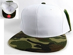 Blank Snapbacks Caps Wholesale | 2-Tone White Camo