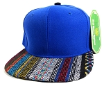 Wholesale Aztec Native Blank Snapbacks Caps - Blue