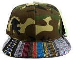 Wholesale Aztec Native Blank Snapbacks Caps - Green Camo