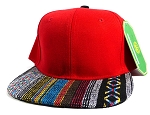 Wholesale Aztec Native Blank Snapbacks Caps - Red