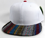 Wholesale Aztec Native Blank Snapbacks Caps - White