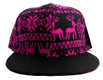 Wholesale Blank Aztec Native Snapbacks Hat - Hot Pink