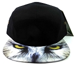 STRAPBACK 5-Panel Blank Camp Hats Caps Wholesale - Owl