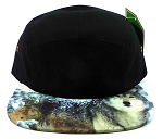 STRAPBACK 5-Panel Blank Camp Hats Caps Wholesale - Wolf (19 PCS LEFT)