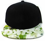 6-Panel Blank Strapback Hats Caps Wholesale - Sakura Flower