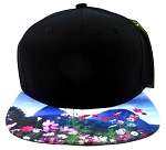 6-Panel Blank Strapback Hats Caps Wholesale - Cosmos Flowers