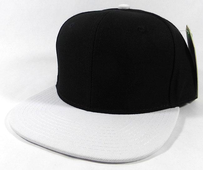 5d95ff8c Blank Snapback Caps Hats Wholesale - Black | White