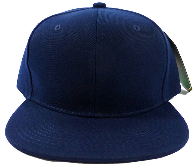 a8008abcc Blank Snapback Caps Hats Wholesale - Navy | Navy