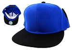 Blank Snapback Hats Caps Wholesale - Royal Blue | Black