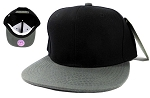 Blank Snapback Hats Caps Wholesale - Black | Dark Gray