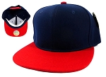 Blank Snapback Hats Caps Wholesale - Navy | Red