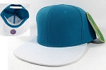 Blank Snapback Hats Caps Wholesale - Turquoise | White