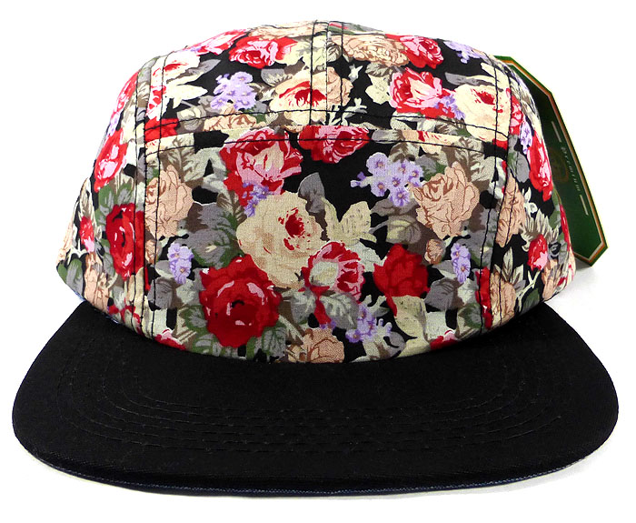 7b0e0c24c39 Home   ALL HATS   Wholesale Floral 5-Panel Blank Camp Hats Caps - Mini  Roses ( 15 pcs only)