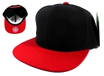 Wholesale Blank Snapback Hats Caps - Black | Red