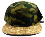 Wholesale Blank Wooden Cork 5-Panel Hats Caps - Camouflage | Floral