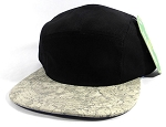 Wholesale Blank Wooden Cork 5-Panel Hats Caps - Black | Gray