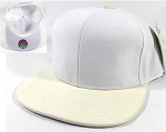 Wholesale Blank Alligator Snapback Hats Caps - White
