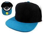 Wholesale Blank Snapback Hats Caps - Black | Turquoise