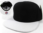 Blank Snapback Caps Hats Wholesale - Black | White