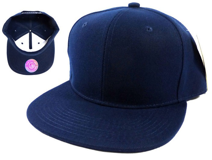 Blank Snapback Caps Hats Wholesale - Navy  9e9c1b5ad68
