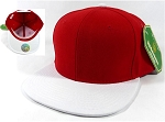 Blank Snapback Caps Hats Wholesale - Red | White