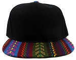 Wholesale Blank Aztec Snapback Hats - Multicolored Pattern