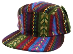 Blank 5-Panel Aztec Camp Hats Caps - Multicolored Pattern