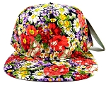 Wholesale Blank Floral Snapback Hats - Lush Daisy Flowers 3