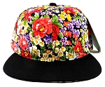 Wholesale Blank Floral Snapback Hats - Lush Daisy Flowers 2