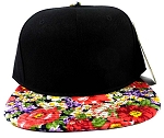 Wholesale Blank Floral Snapback Hats - Lush Daisy Flowers