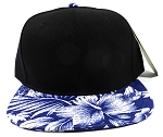 Wholesale Blank Floral Snapback Hats - Hawaiian Flower Silkscreen Print 2
