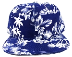 Wholesale Blank Floral Snapback Hats - Hawaiian Flower Silkscreen Print