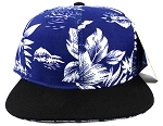 Wholesale Blank Floral Snapback Hats - Hawaiian Flower Silkscreen Print 3