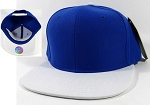 Blank Snapback Hats Wholesale - Royal Blue | White