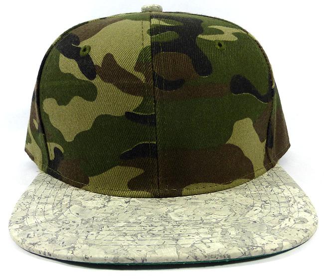 639cf3b420d55 Wholesale Blank Cork Snapback Hats - Wood Brim Caps Camo