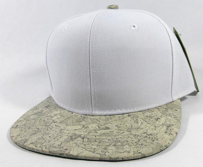 Home   ALL HATS   Wholesale Plain Cork Snapback Hats - Wood Brim Caps White   9dd6e649d6f