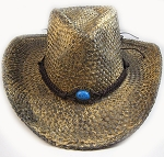 Trendy Color Stained Cowboy Hat - 100% Straw & Strings