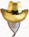 Trendy Cowboy Hat Wholesale - 100% Straw - Butterfly & Chin String