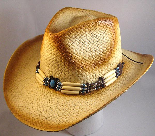dfebc8b549e Wholesale Western Cowboy Hats - 100% Straw   Beads Cowgirl Trendy ...