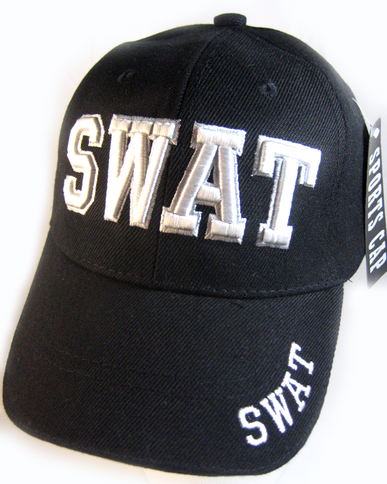 Wholesale Swat Ball Caps Supreme Quality Law Order Embroidery