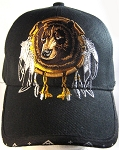 Native Pride Bear Dreamcatcher Hat - Black Ball Cap