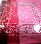 Paisley Bandana 100% Cotton Wholesale (Dozen Priced) - Burgundy, Red, Hot Pink, Regular Pink