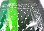 Paisley Bandana 100% Cotton Wholesale  (Dozen Packed) - Green, Lime, Olive